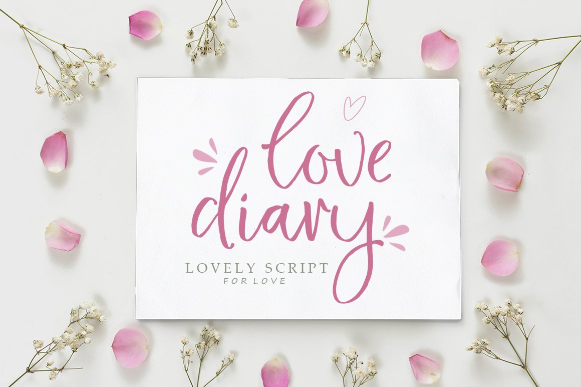 Love Diary Lovely Script example image 1