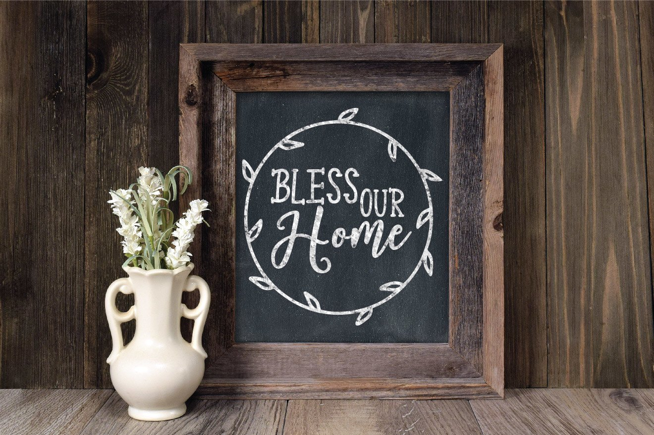 Bless Our Home SVG Cut File example image 5