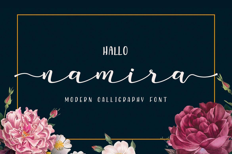 Namira | Modern Calligraphy Script Font example image 1