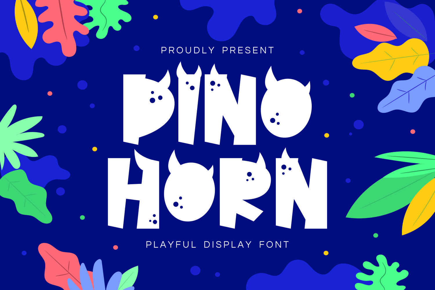 Dinohorn - Playful Display Font example image 1