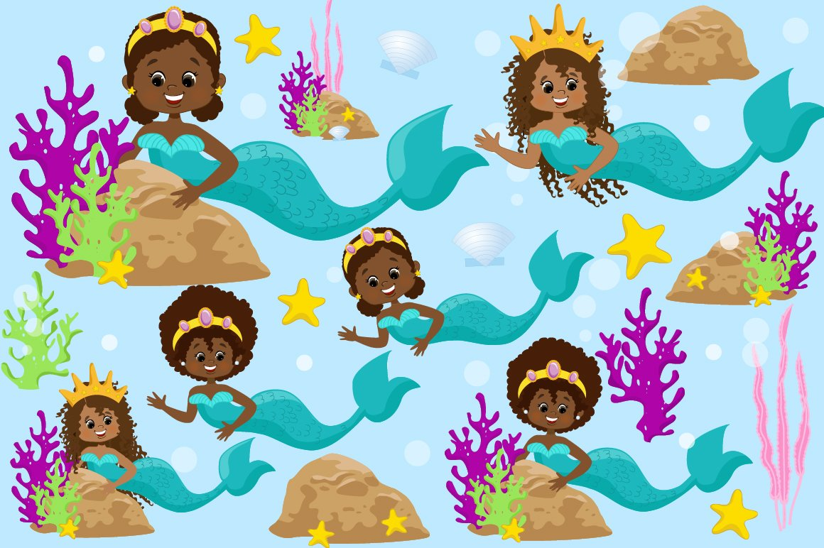 Mermaids Clipart Pack example image 1