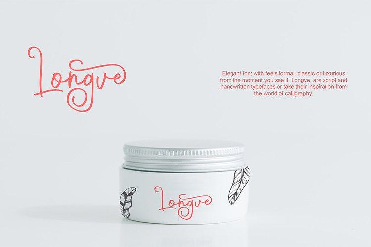 Longve    Elegant Handwriting Font example image 7