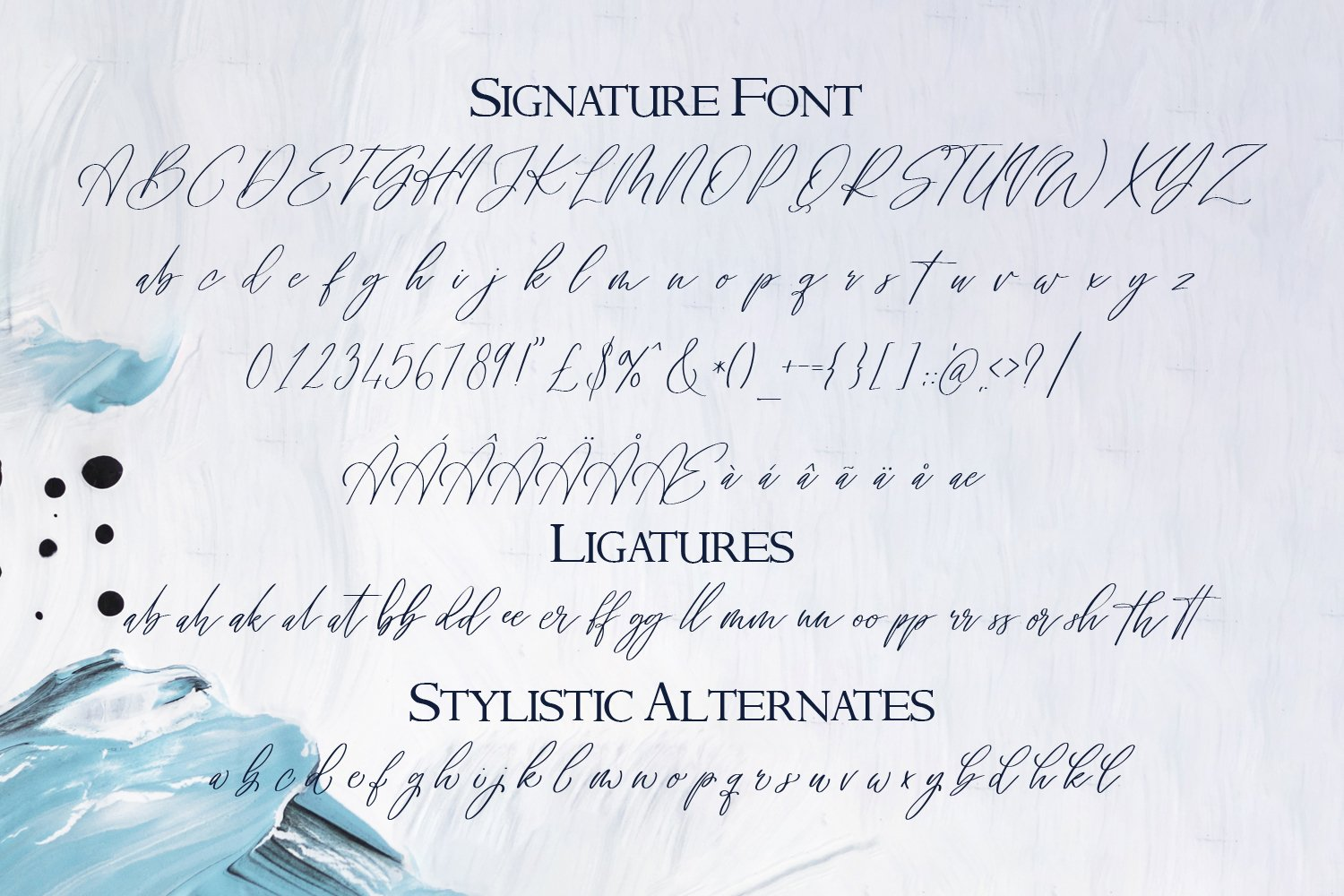 Signature Archive - A Signature and Serif Font Duo example image 7