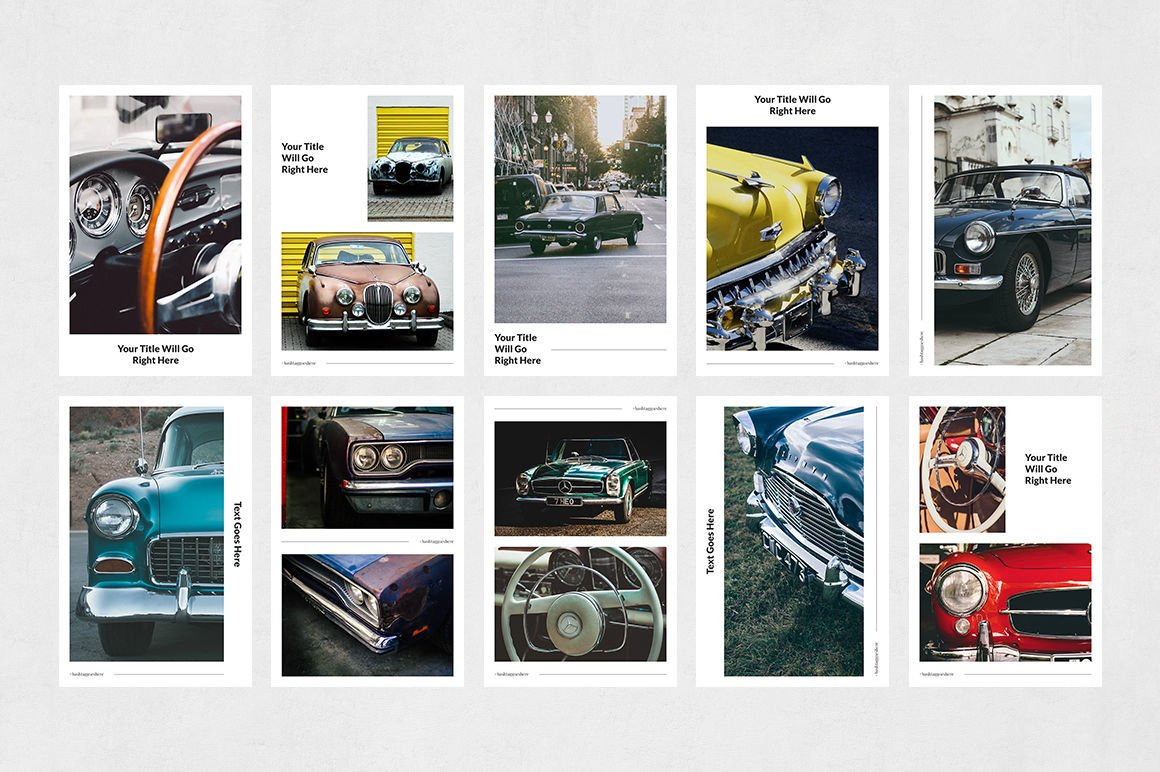 Download Classic Cars Pinterest Posts 226093 Web Elements Design Bundles