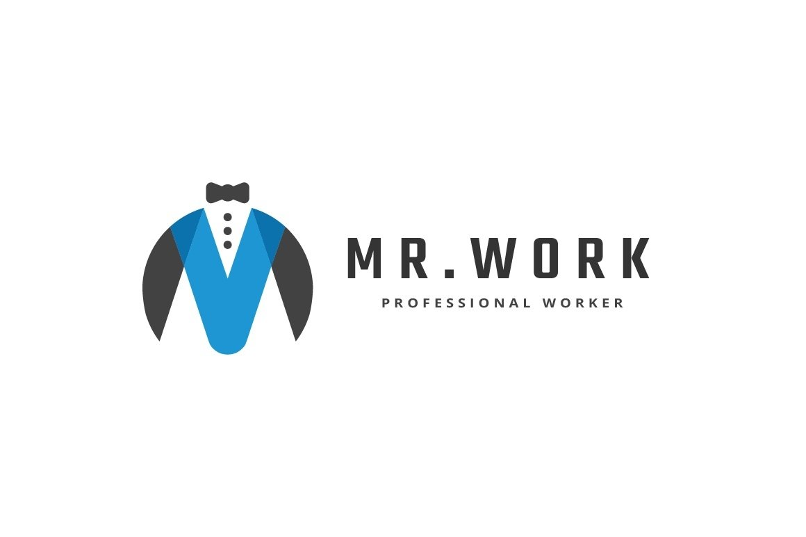 Mr. Work Letter M Logo example image 2