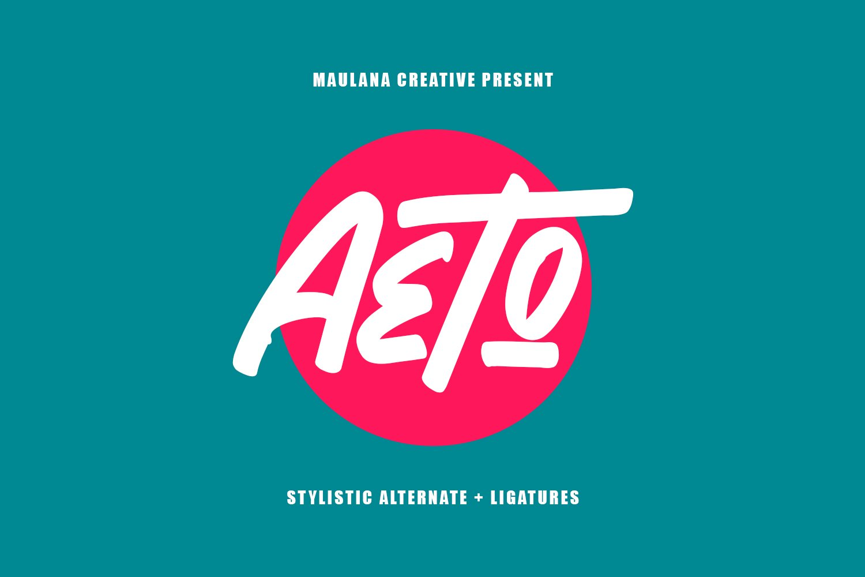 Aeto - Brush Handmade Font example image 1