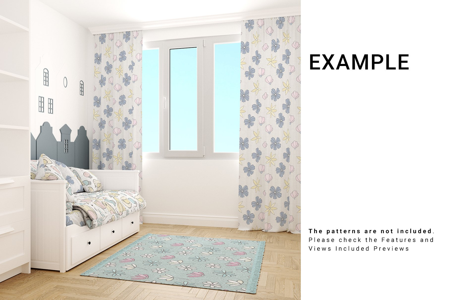 Toddlers Room Textile - Bedding, Curtains & Carpet Set example image 7