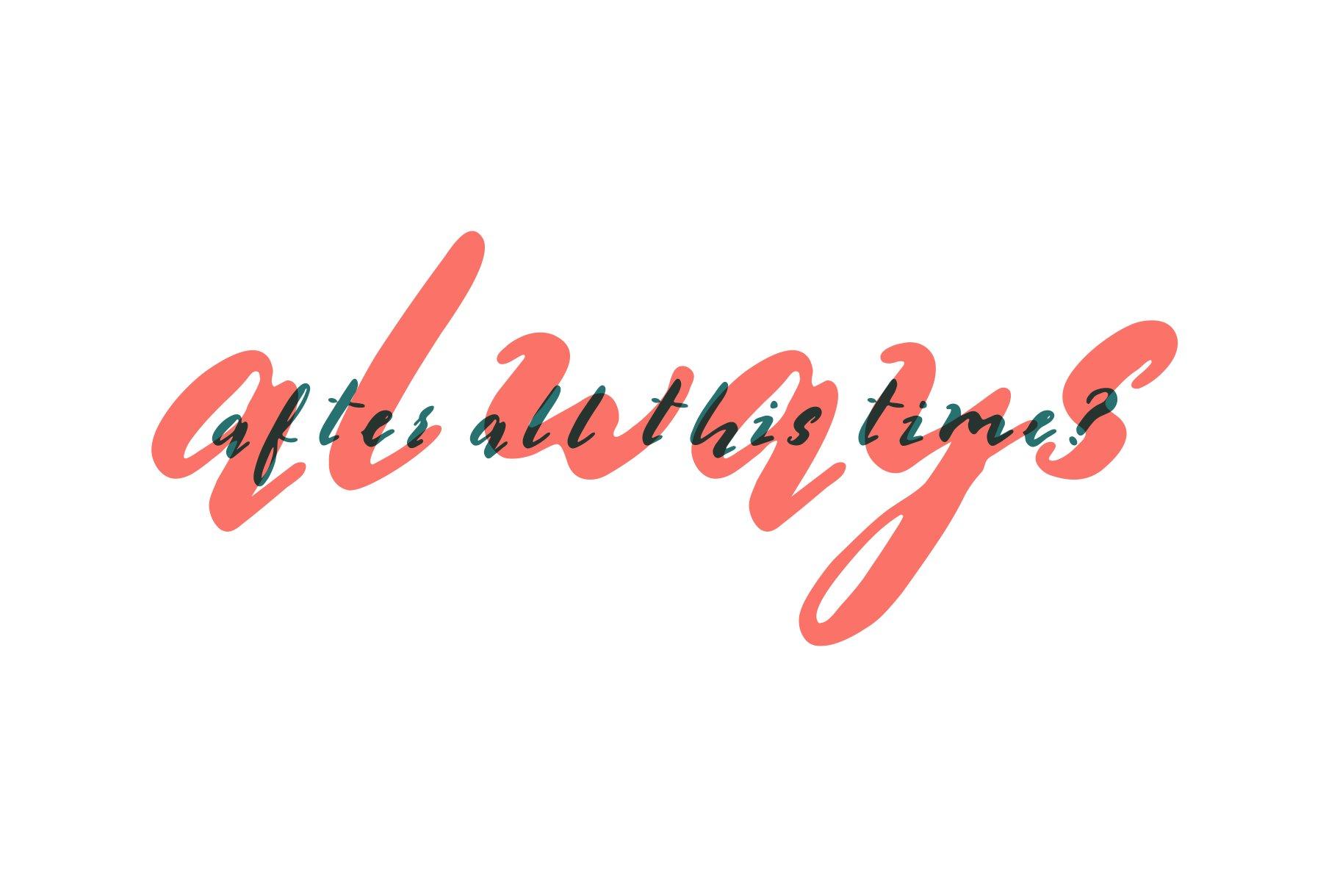 Multilingual Brush Font- Naquia Font example image 16