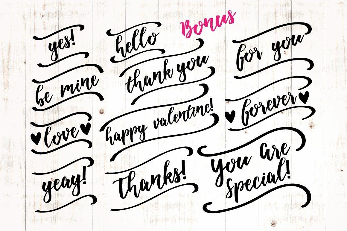 Web Font Adella Handlettered example image 9