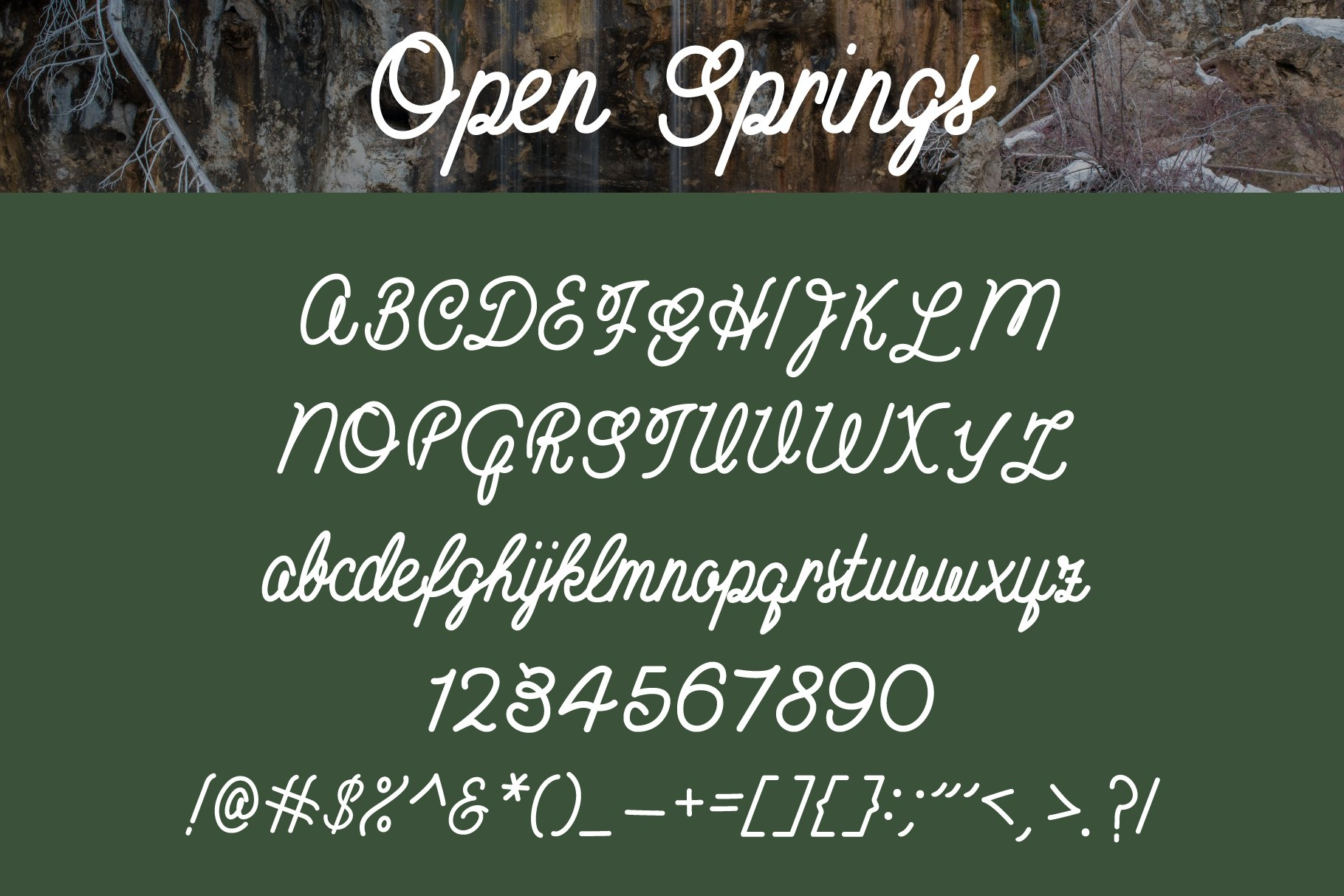 Open Springs - Font Trio example image 7