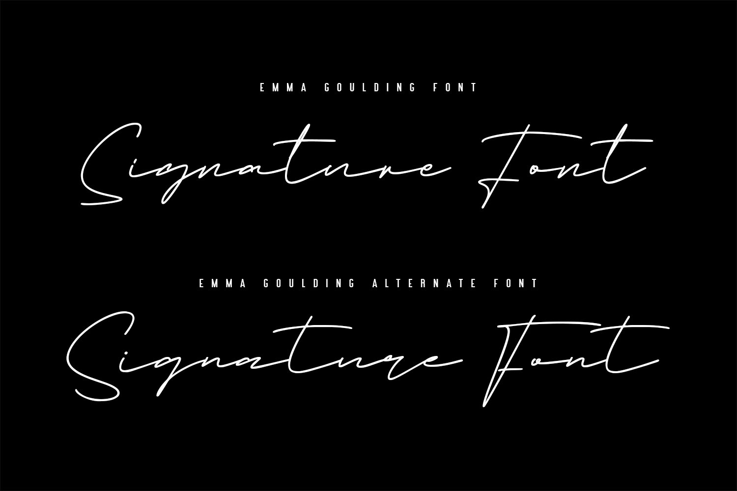 Emma Goulding Signature Collection Script Font example image 3