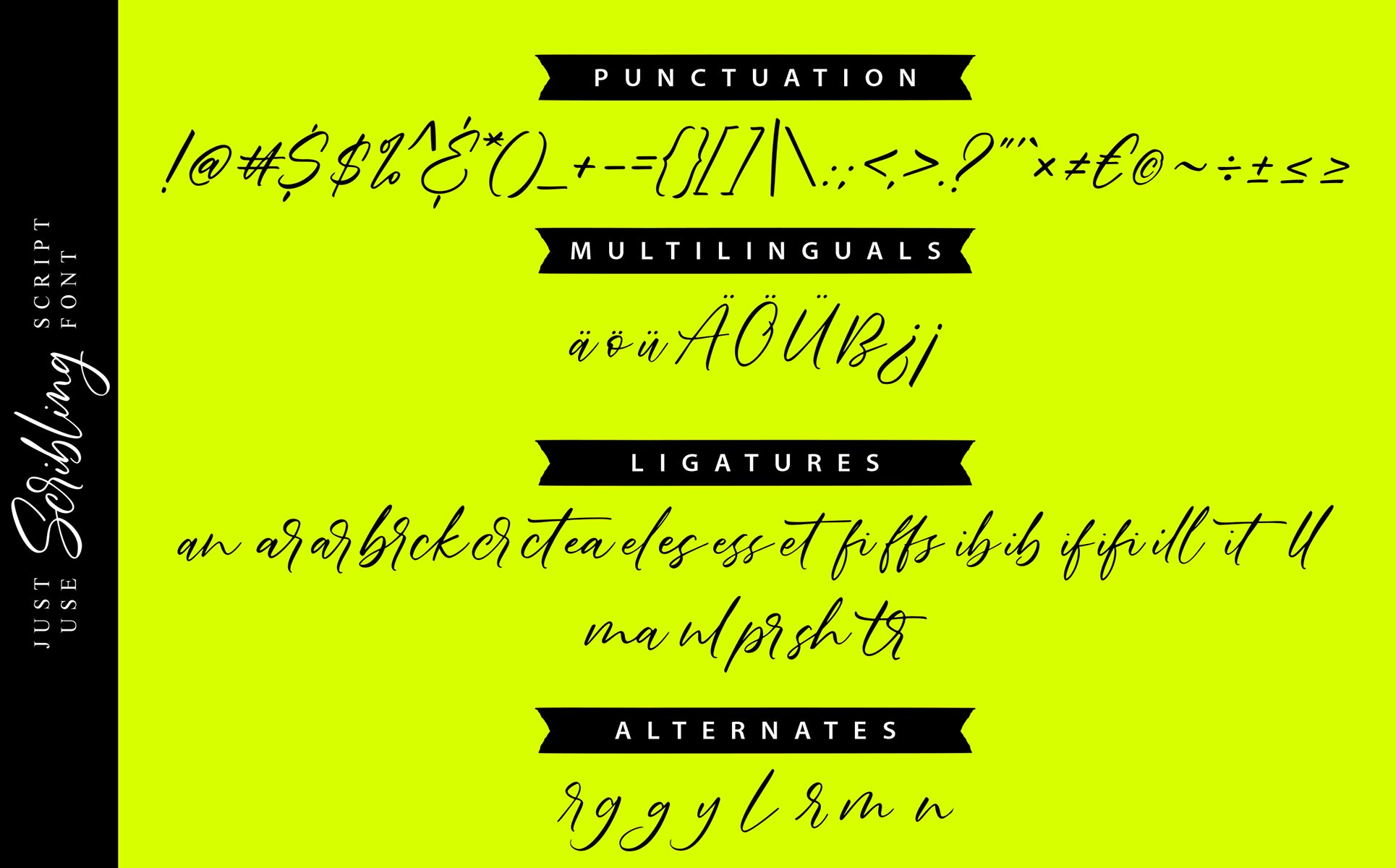 Scribbling | Uniquely Handwriting Script Font example image 2
