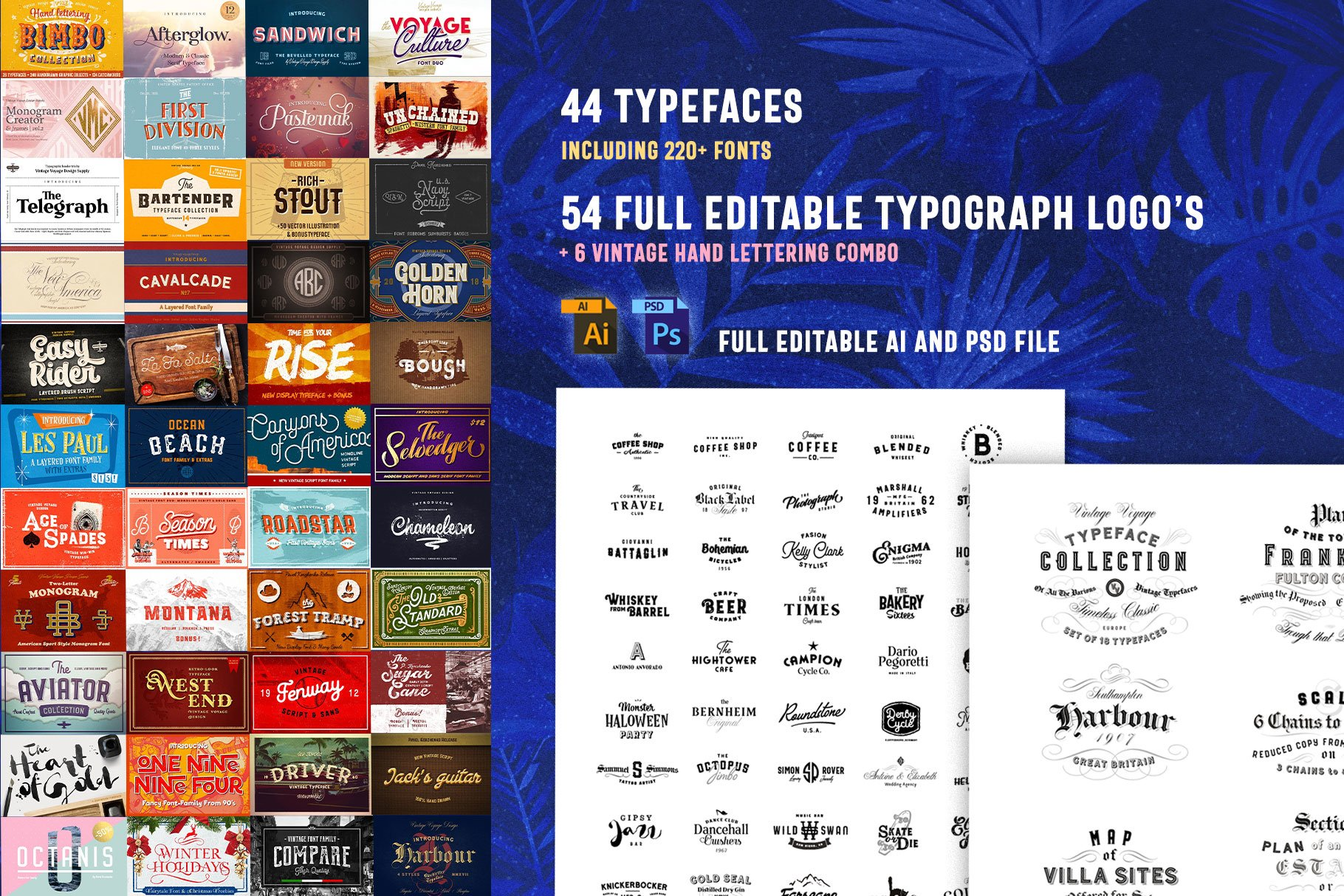 Huge Typographic Pack 60 Logos ! example image 2