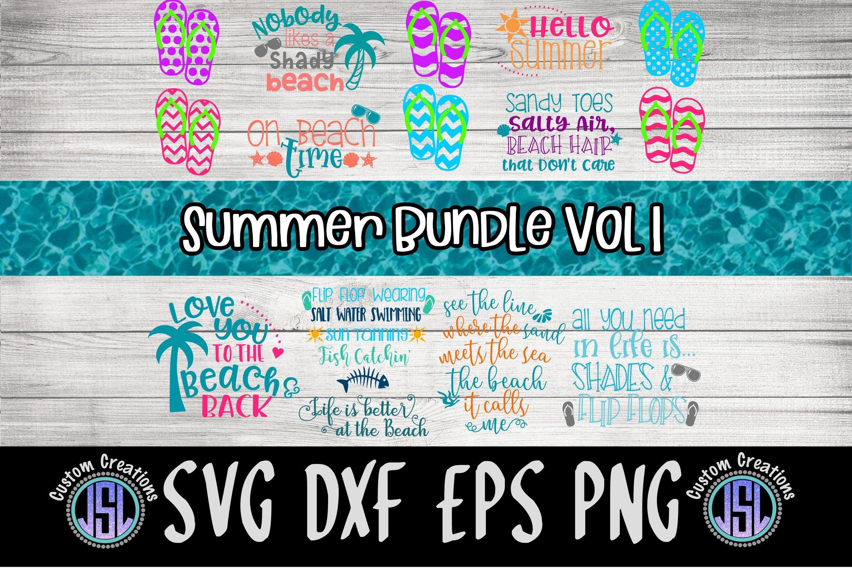 Summer Bundle Vol 1 Set Of 14 Svg Dxf Eps Png 107227 Cut Files Design Bundles