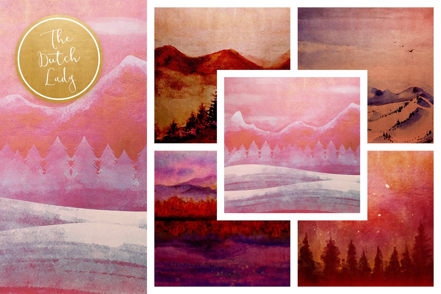 Digital Backgrounds & Papers - Winter Landscape example image 2