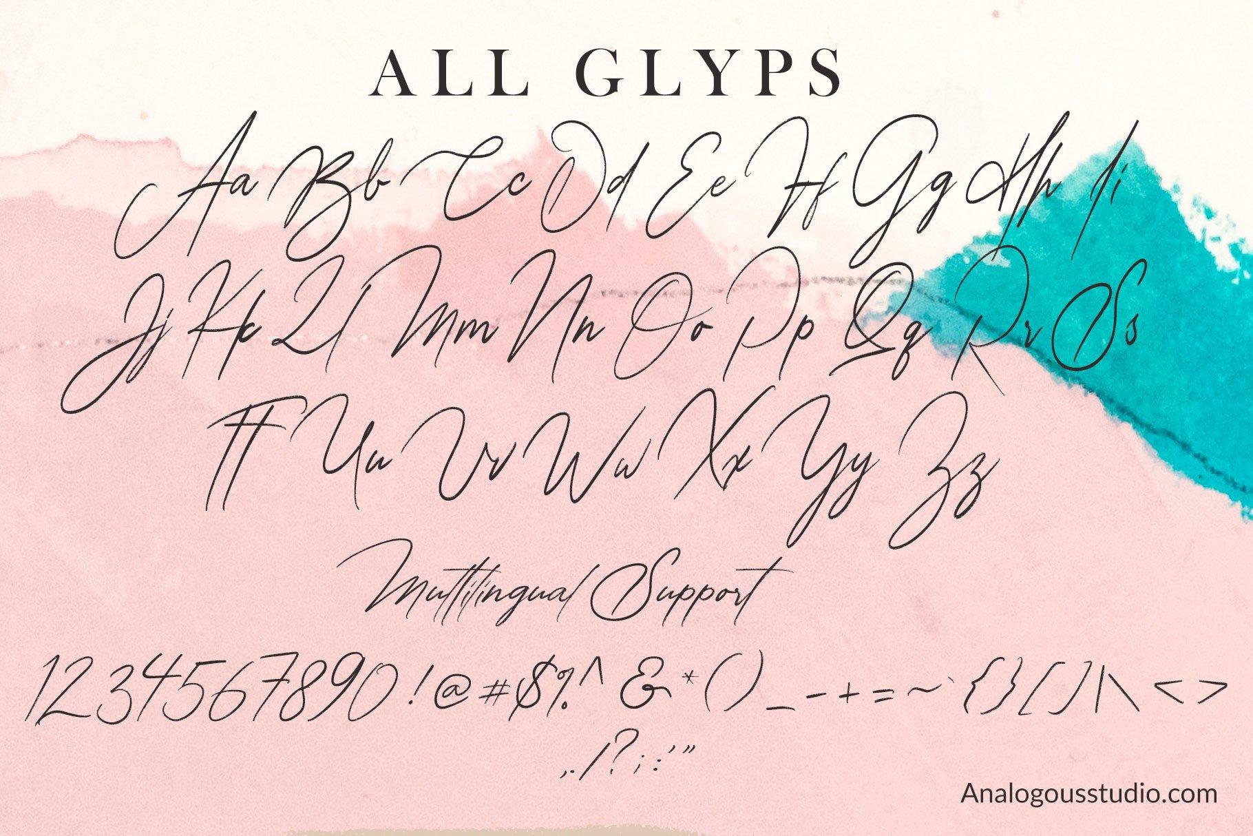 Alathena Signature Font example image 14