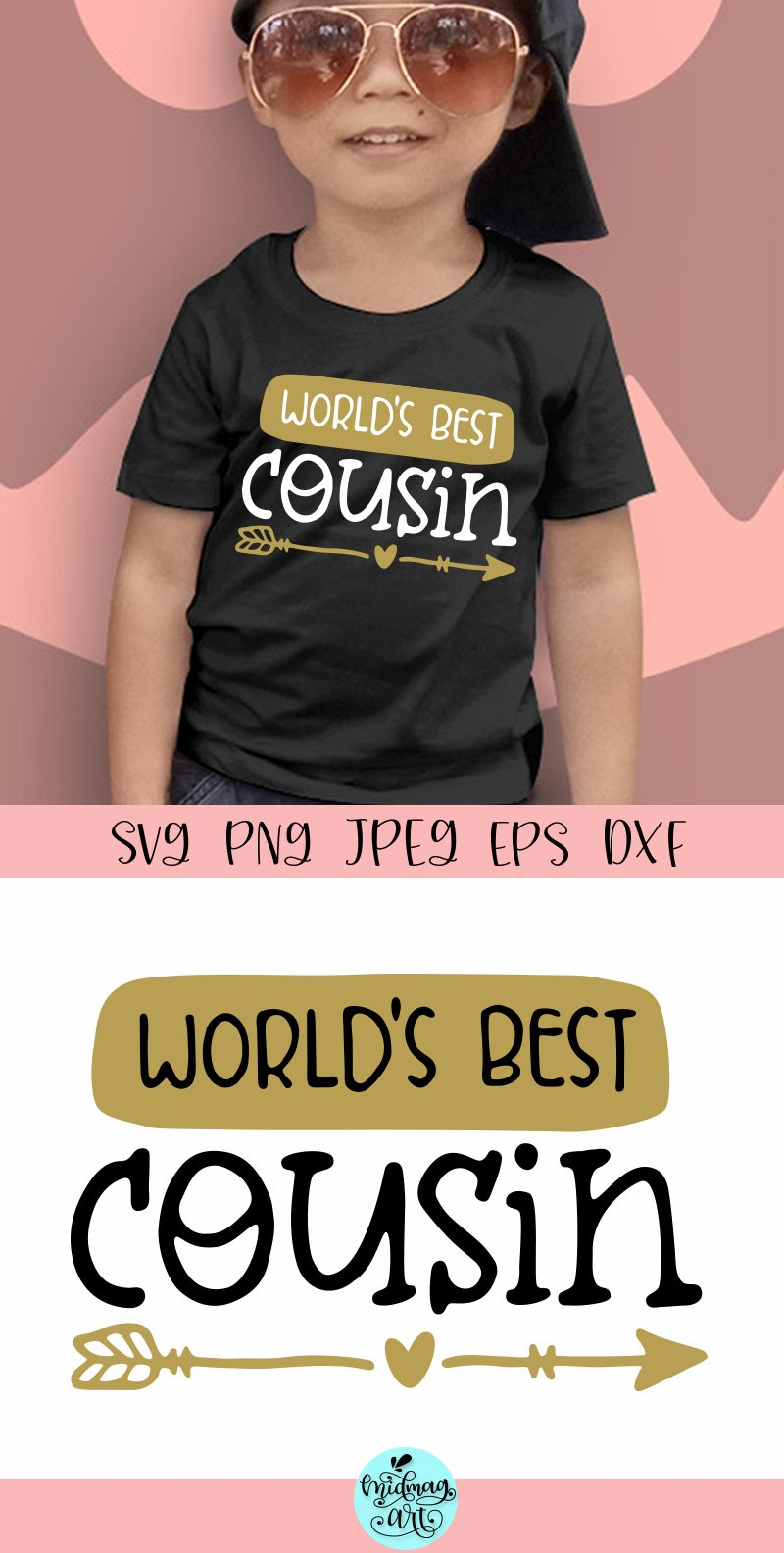 World's best cousin svg, cousin shirt svg example image 2