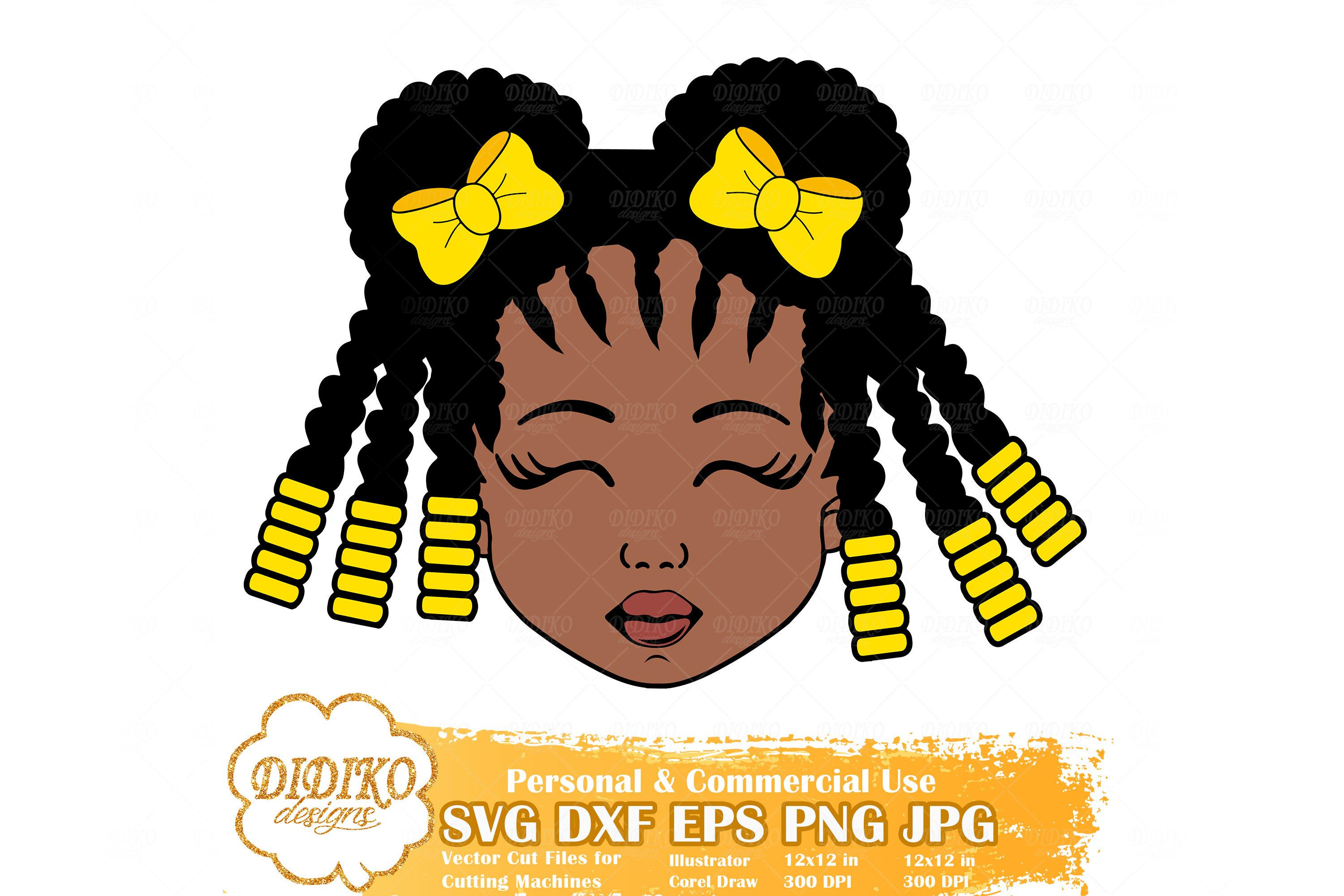 Black Girl Bundle Svg Afro Girl With Bow Svg Afro Puff Svg 533751 Cut Files Design Bundles