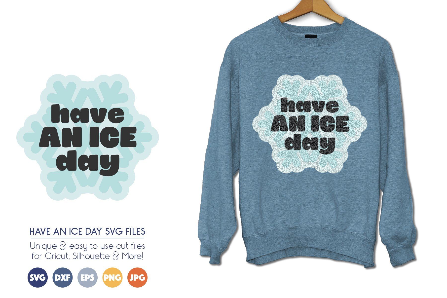 Have an Ice Day - Cute Winter SVG Cut Files example image 1