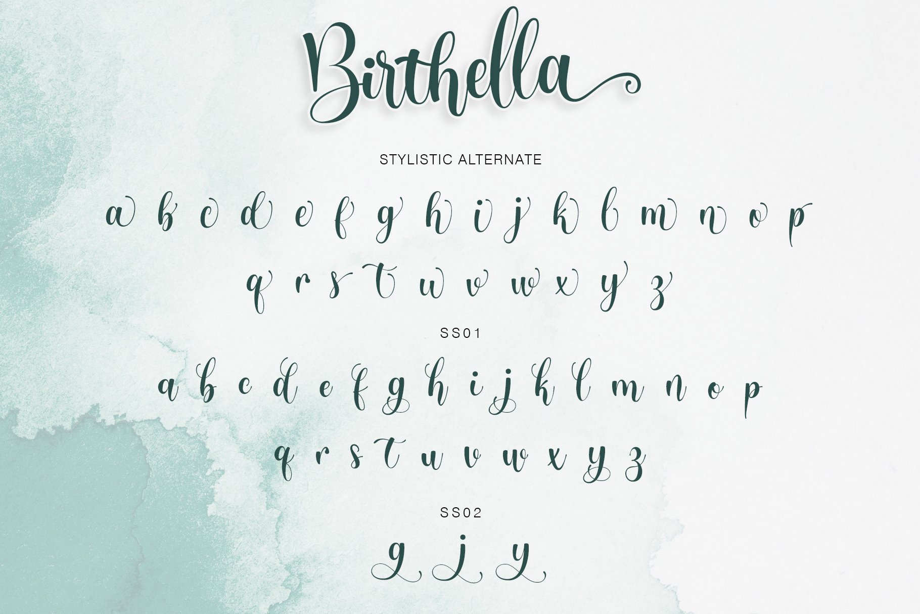 Birthella || Modern Calligraphy example image 11