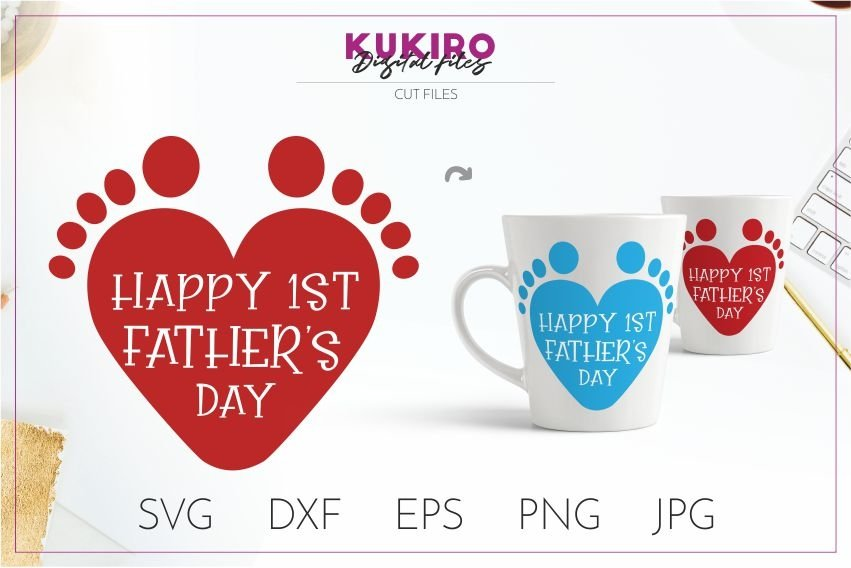 Free This item is an instant digital download. Happy First Father S Day Cut File Svg 1st Time Dad Design 242344 Cut Files Design Bundles SVG, PNG, EPS, DXF File