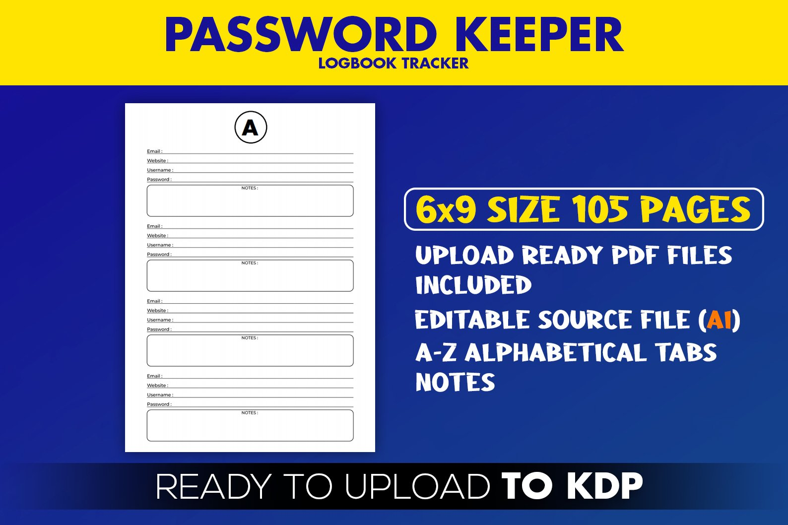 Password Logbook KDP Interior Ready to Upload example image 2