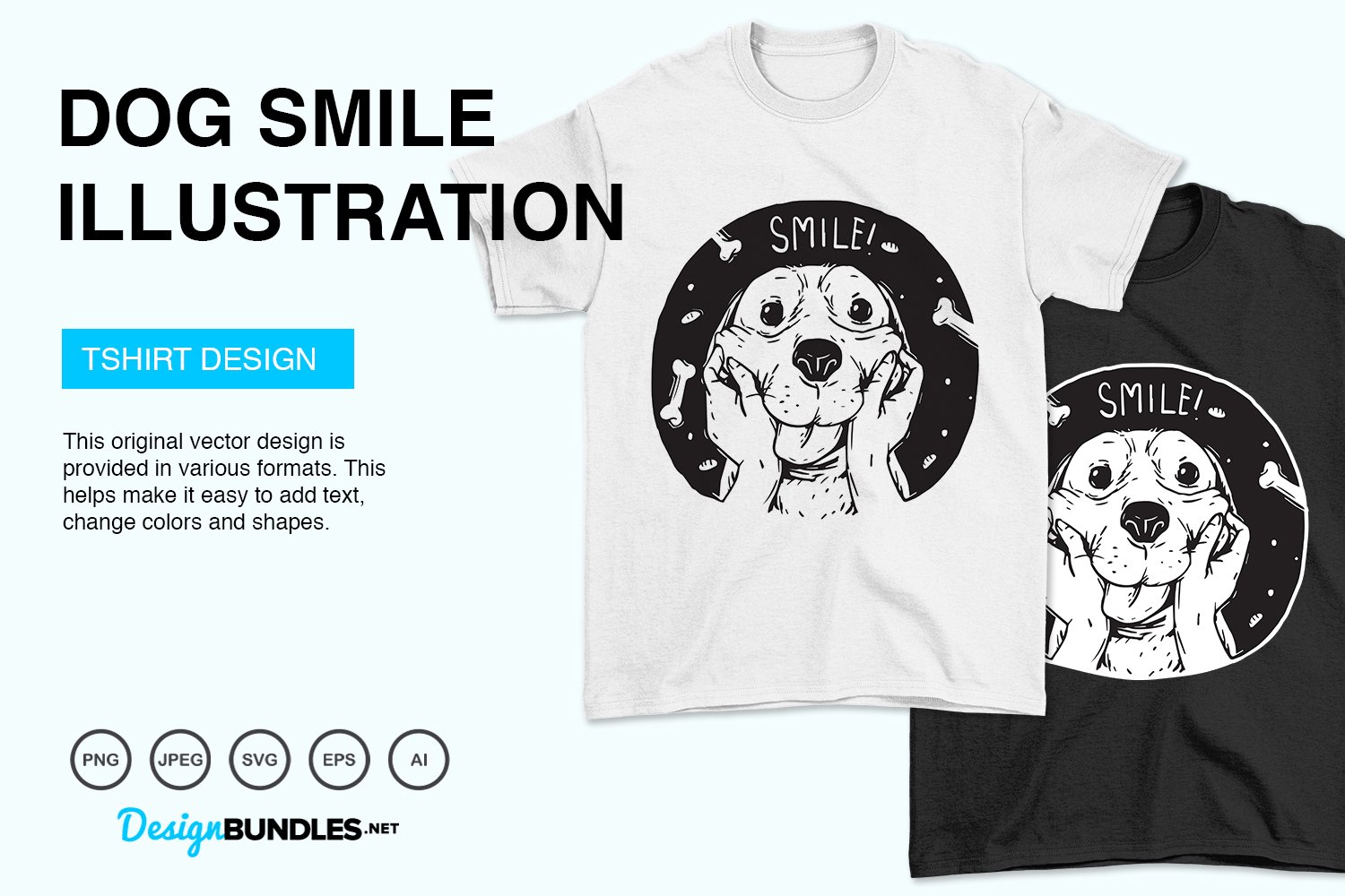 Dog Smile Vector Illustration example image 2