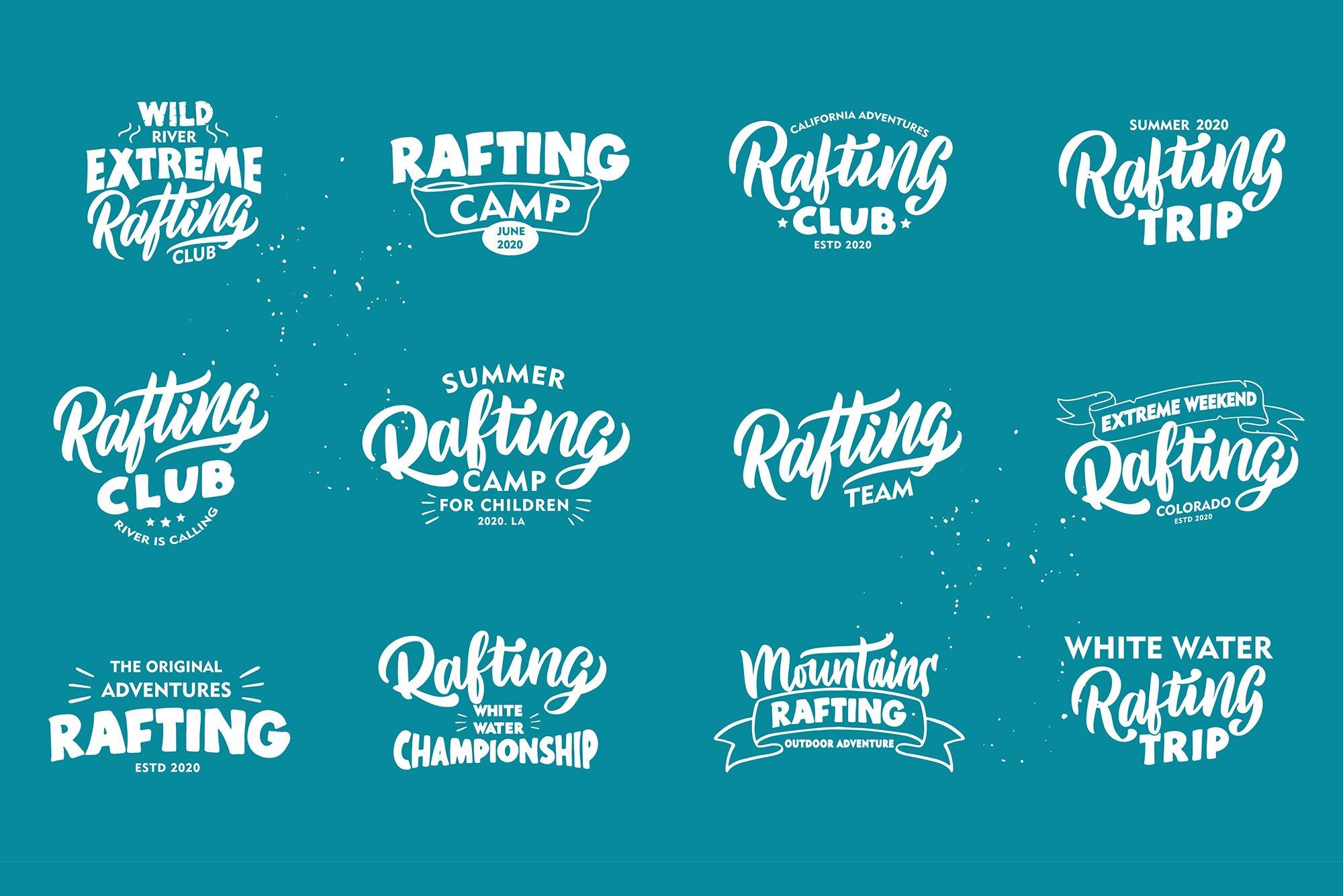 Set of Rafting logos example image 4