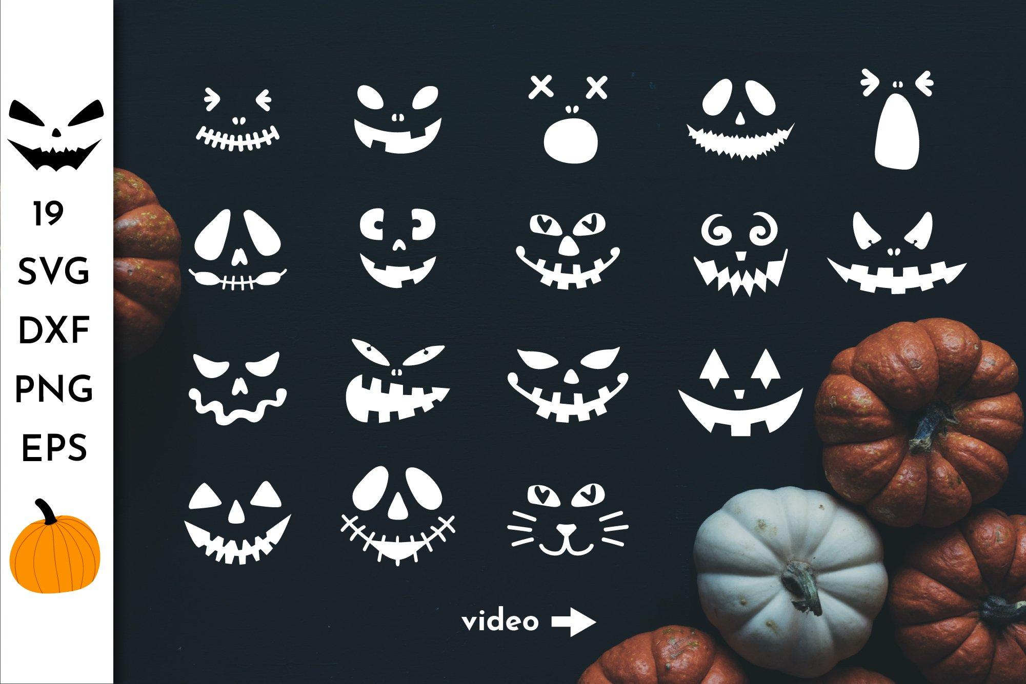 Pumpkin Faces Svg Halloween Face Jack O Lantern Faces 838885 Illustrations Design Bundles
