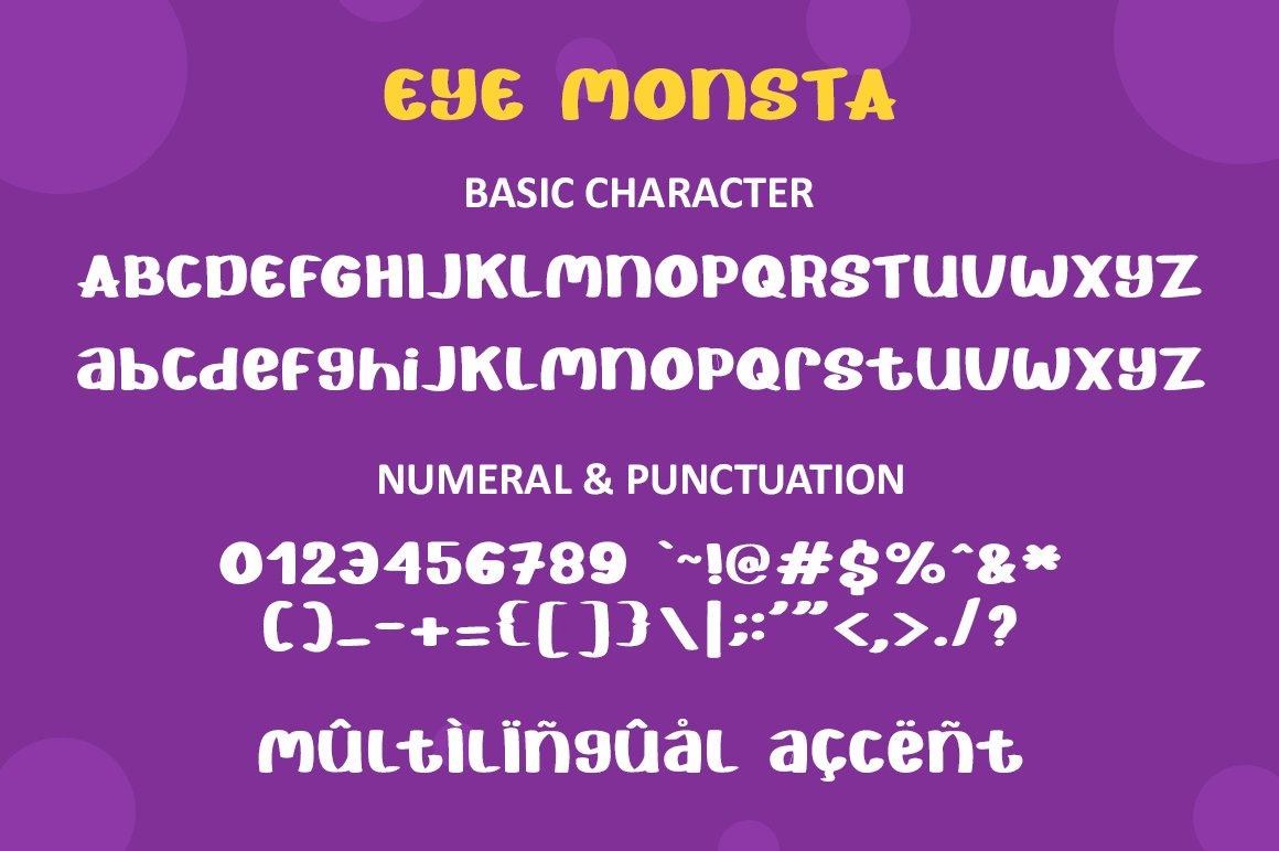Eye Monsta - Bold Display Font example image 4