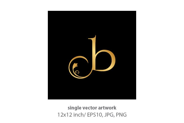 Decorative golden letter b example image 1