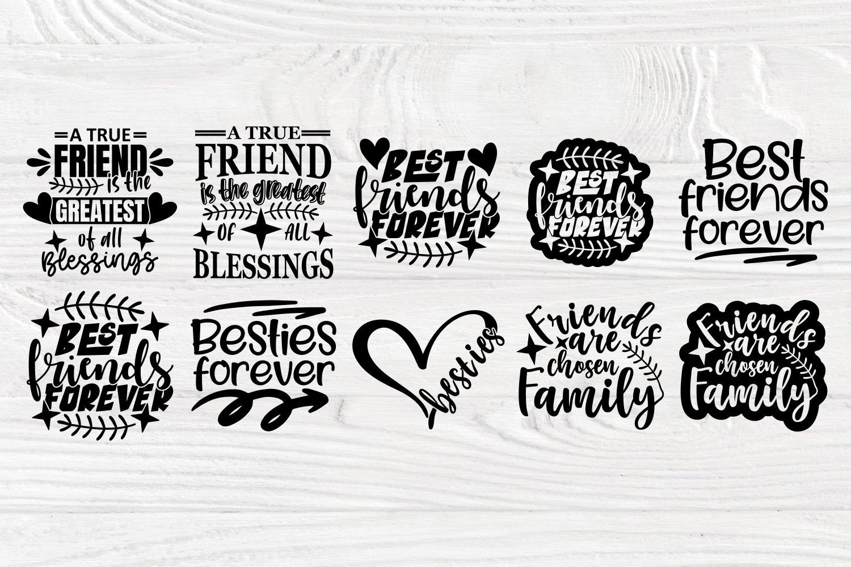 Friends Svg Cut Files, Friendship Svg Bundle, Shirt Designs example image 5