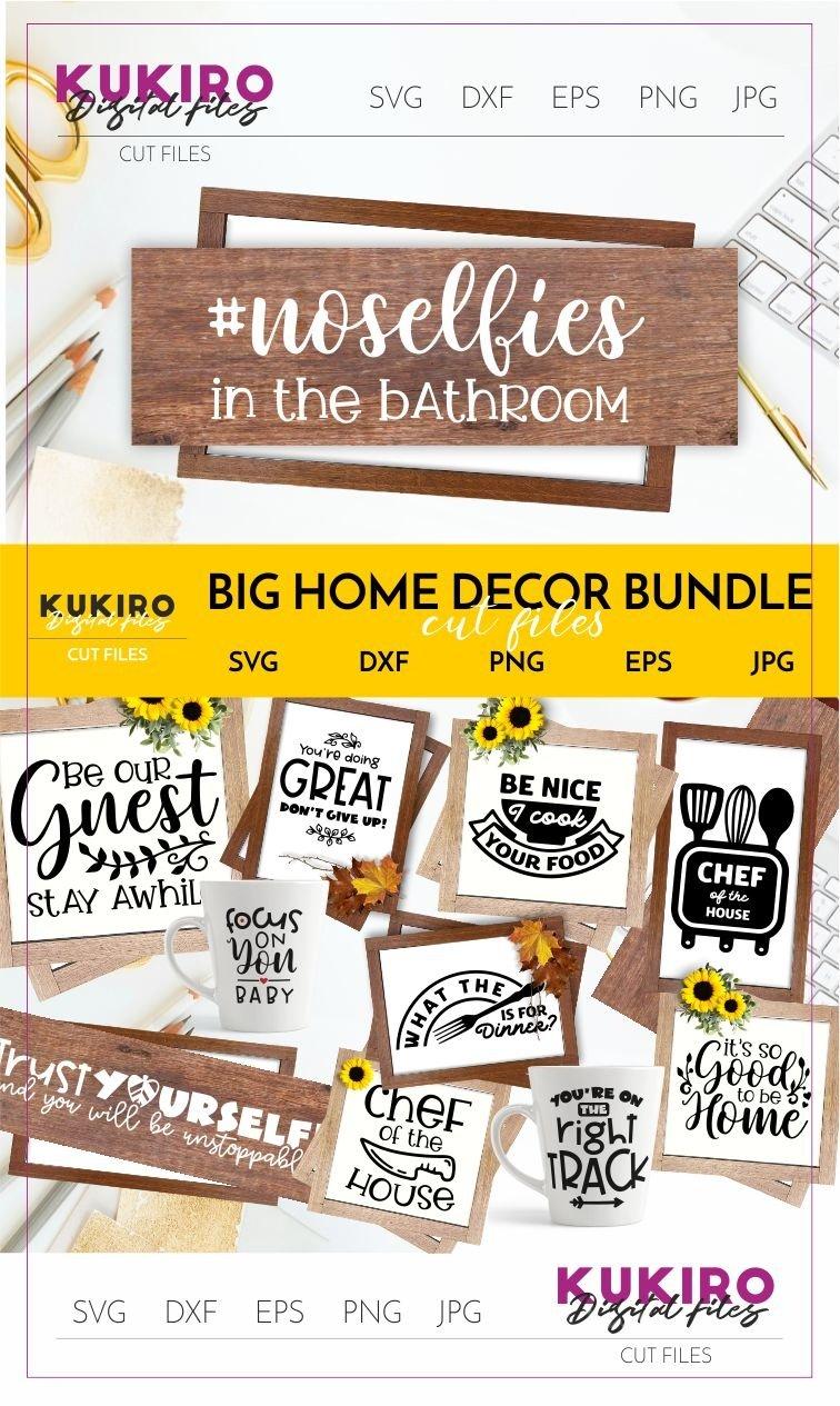 Big Home Decor Bundle Home Office And Funny Kitchen Signs 217419 Cut Files Design Bundles