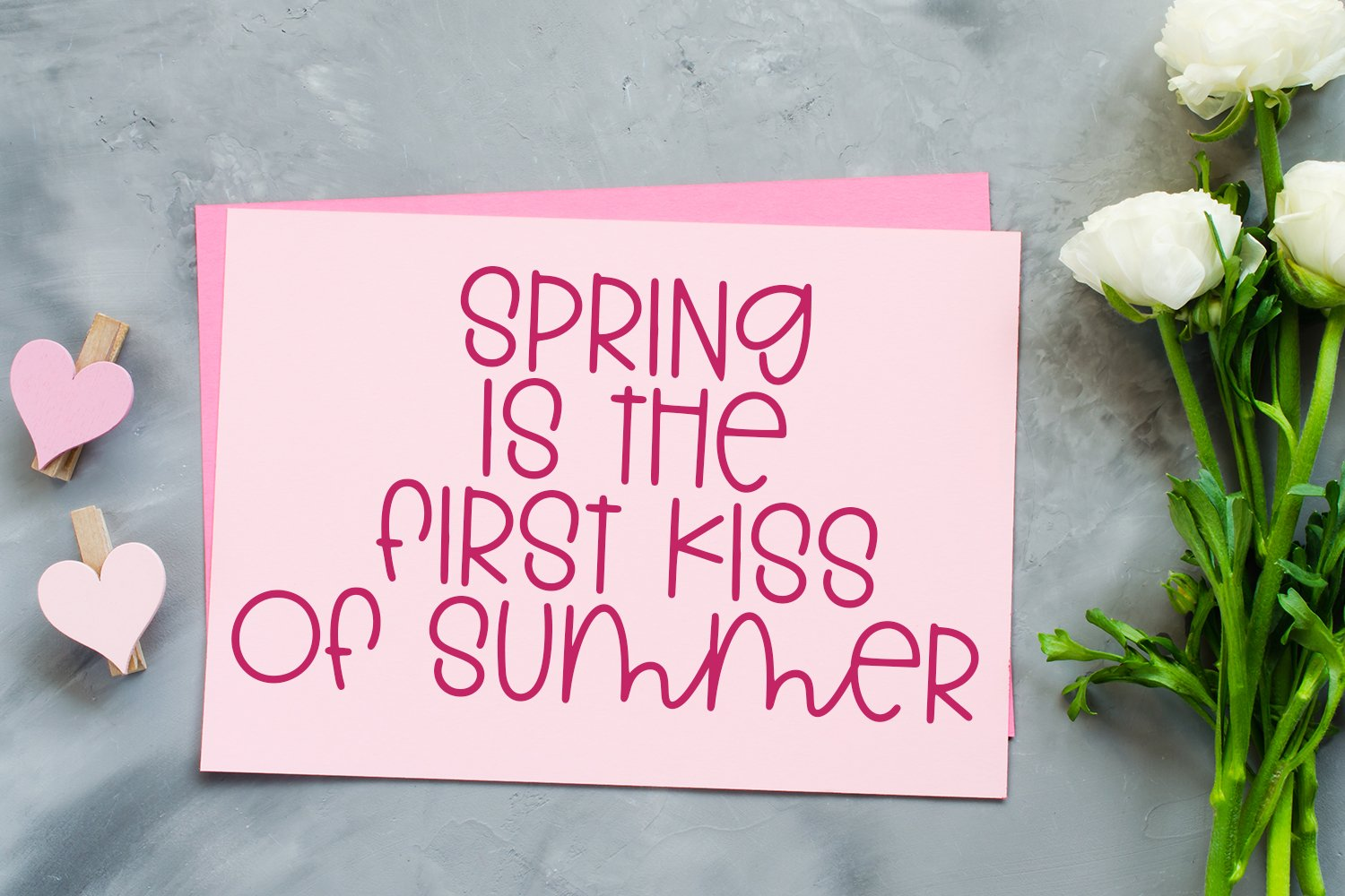 Springtime Memories - A Cute Hand-Lettered Font example image 4