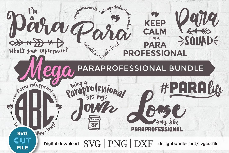 Paraprofessional Svg Para Svg Paraprofessional Svg Bundle 377369 Cut Files Design Bundles