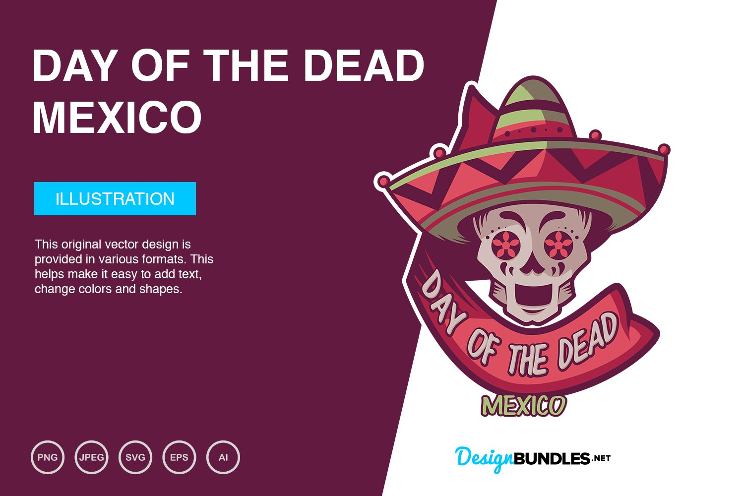 Day of The Dead Vector Illustration example image 1