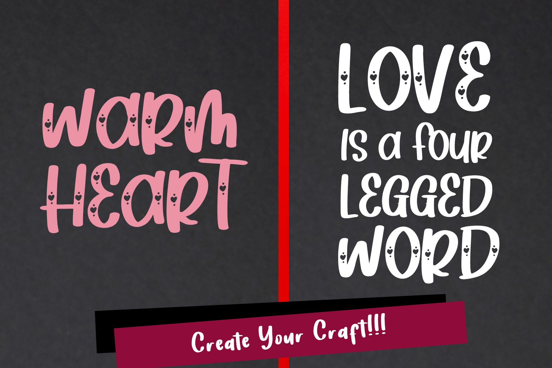 Heart Love - Crafty Lovely Font Duo example image 2