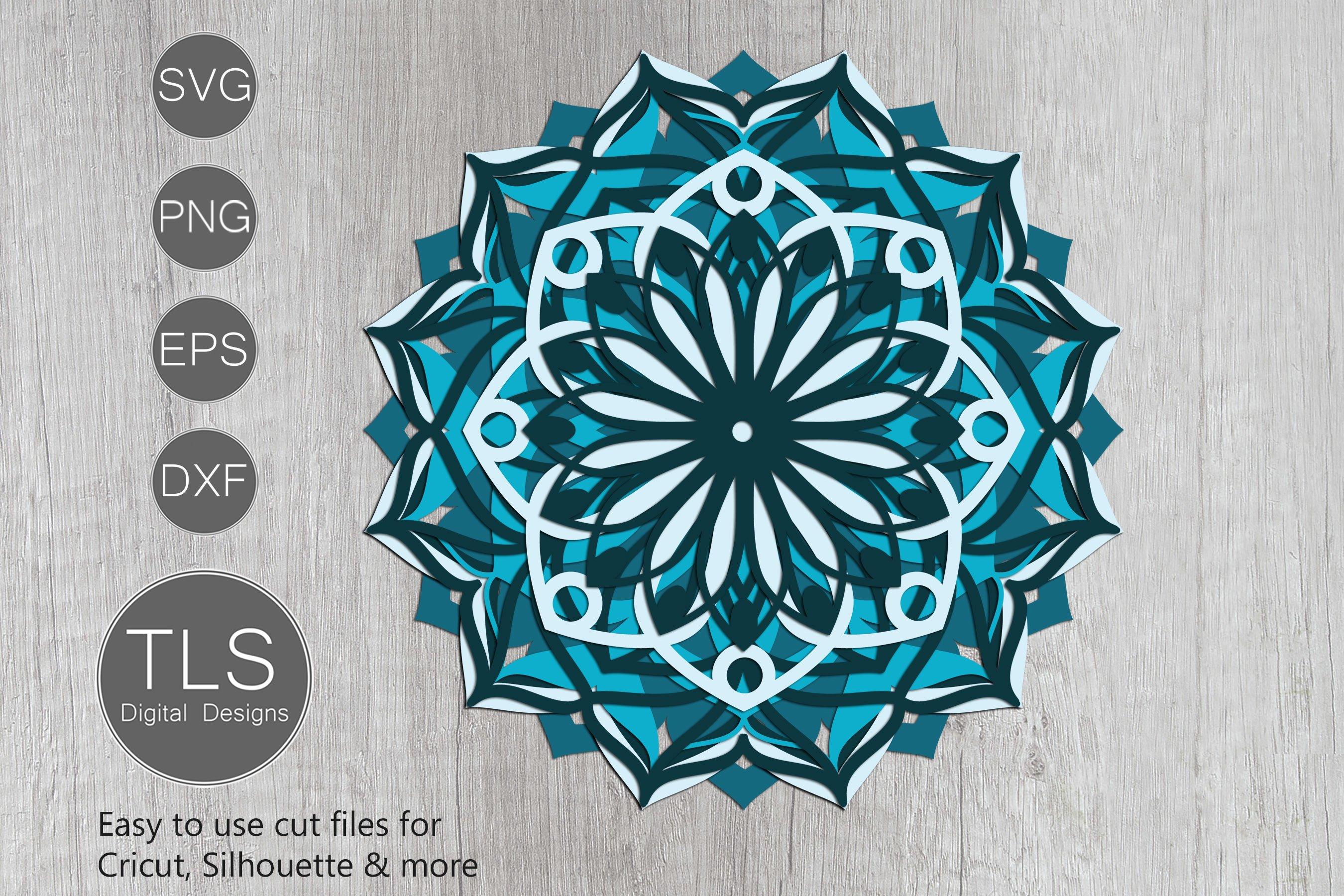 Download 3D Mandala Layered SVG (564118) | Cut Files | Design Bundles