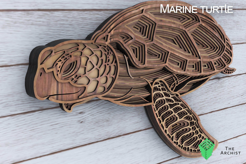 Multilayered Svg, Sea Turtle, Marine Turtle Art, (565448
