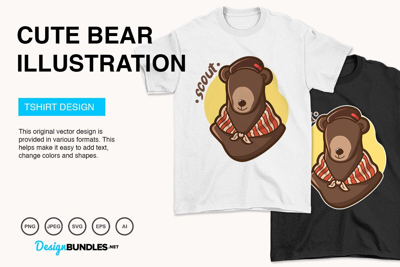 Cute Bear Vector Illustration example image 3