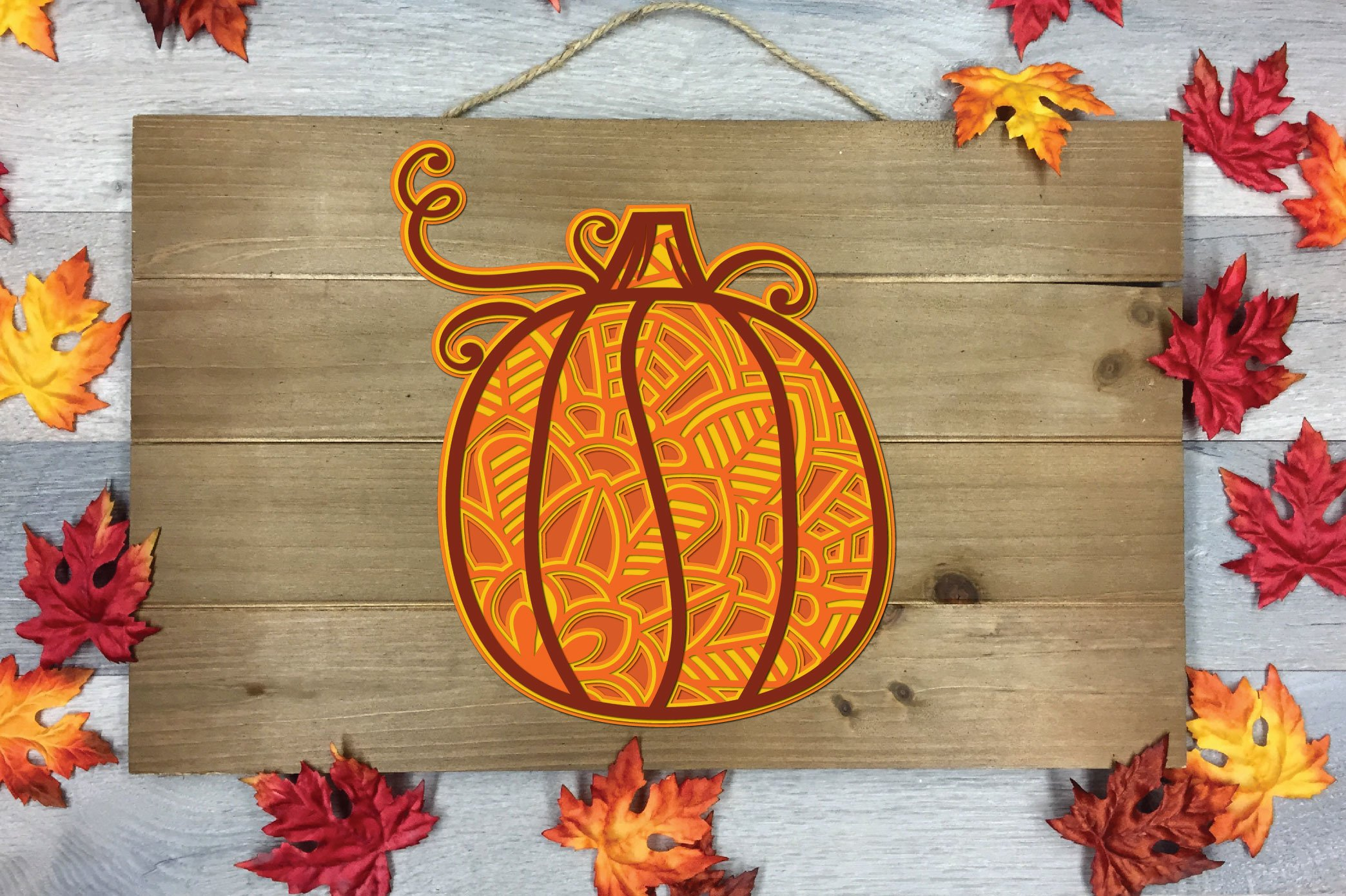 3D Layered Pumpkin SVG | Fall Multi Layer| Autumn Cut File example image 7