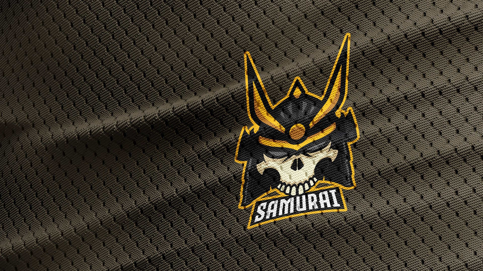Samurai Skull Logo Template example image 3
