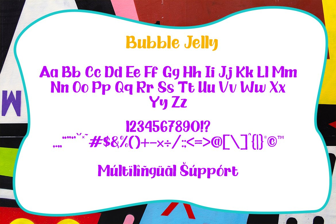 Bubble Jelly | 2 Styles Display Font example image 6