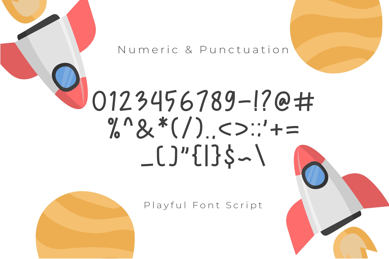 New Rocket Playful Font Script example image 4