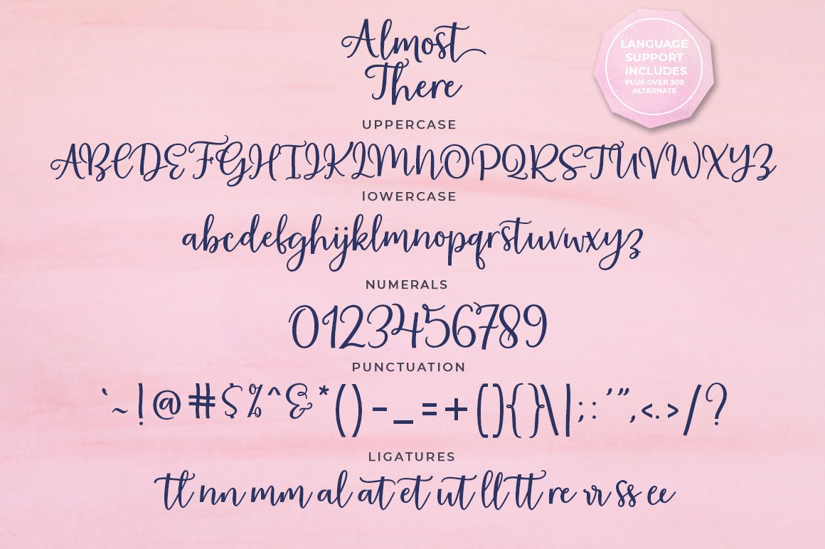 Almost There Script Typeface example image 4