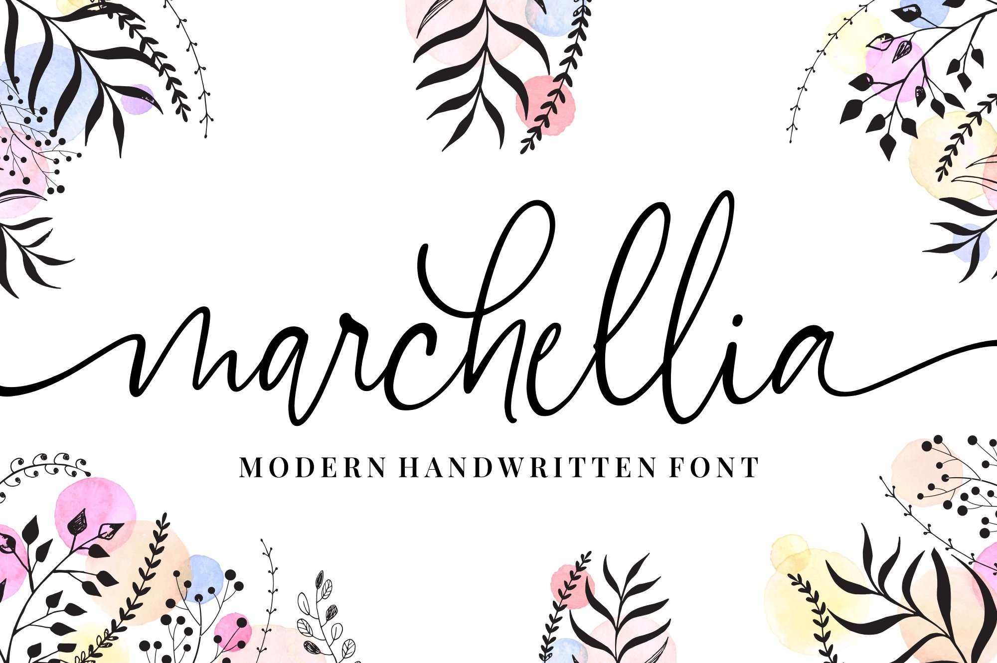 Marchellia - Modern Handwritten Font example image 1