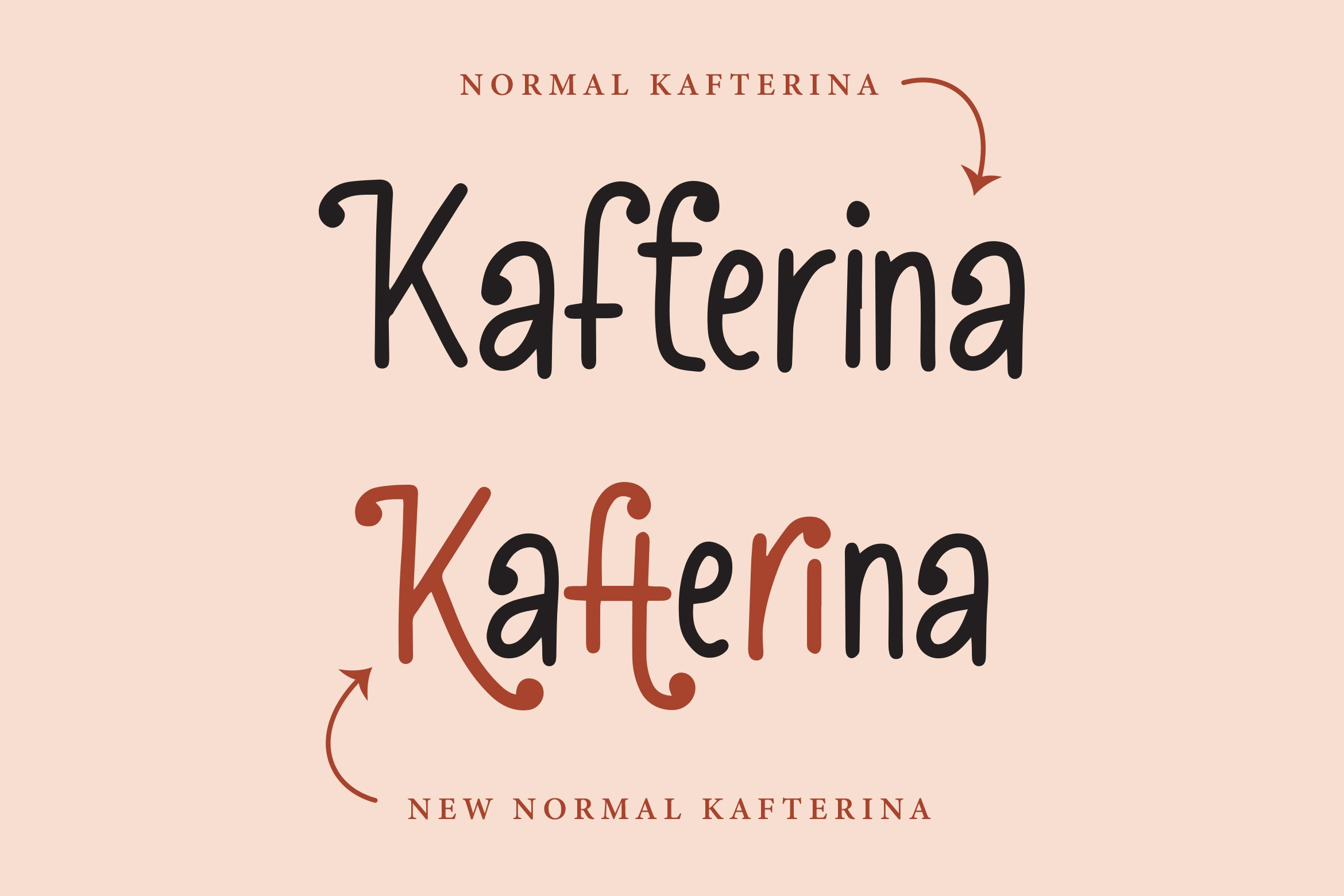 Kafterina - Fancy Casual Fonts example image 2