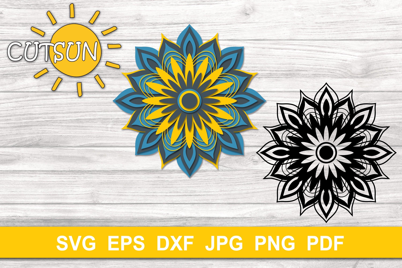 Download Mandala SVG | 3D Layered Mandala SVG cut file 9 layers ...
