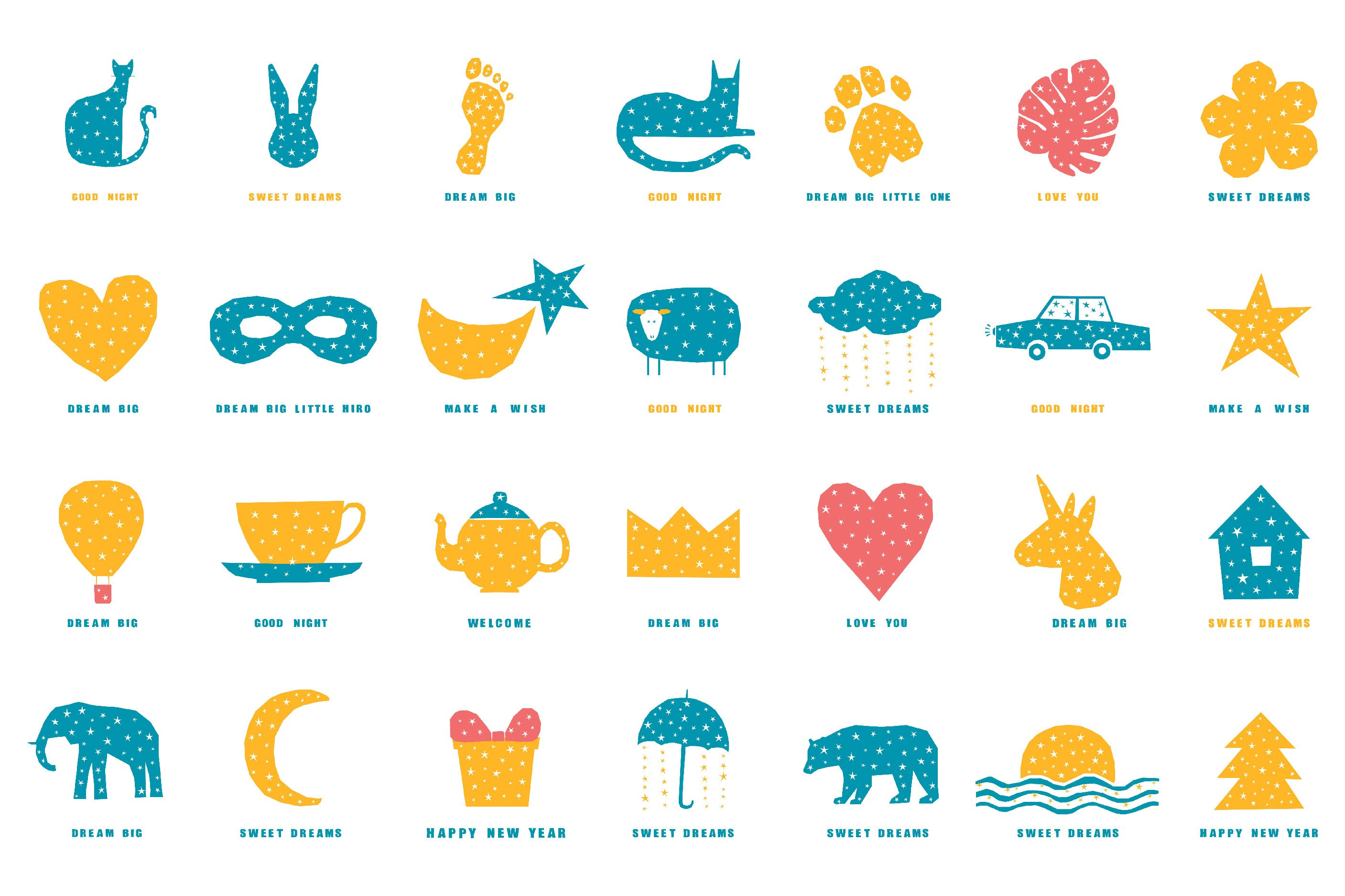 T shirt prints, childish collection. Digital patterns. example image 5