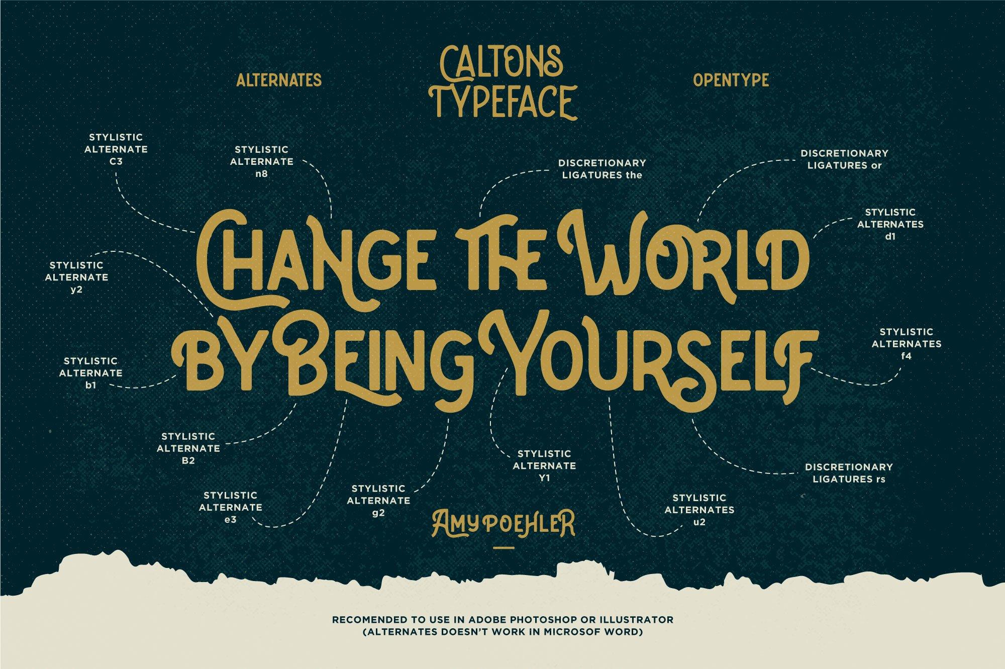 Caltons Typeface With Extra Bonus example image 9